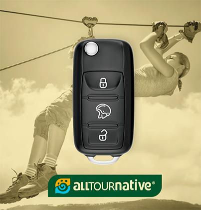 Más que rentar un auto, en Avis rentas adrenalina en una tirolesa.